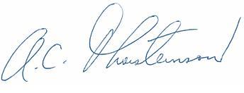 Arni Thorsteinson signature