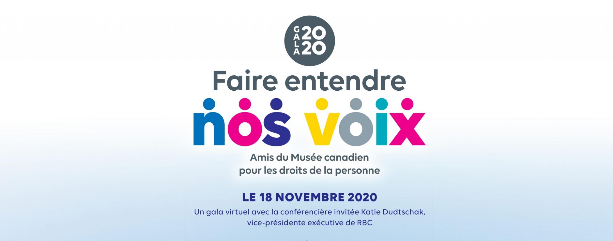 Gala 2020 : Faire entendre nos voix